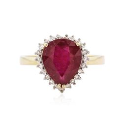 14KT Yellow Gold 3.09 ctw Ruby and Diamond Ring