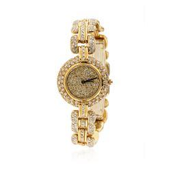 Ladies Renato Ferraris 18KT Yellow Gold 4.00 ctw Diamond Wristwatch