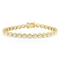 14KT Yellow Gold 10.04 ctw Diamond Tennis Bracelet