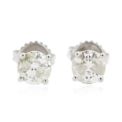 14KT White Gold 1.39 ctw Diamond Stud Earrings