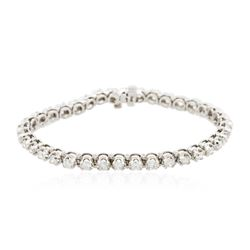 14KT White Gold 4.87 ctw Diamond Tennis Bracelet