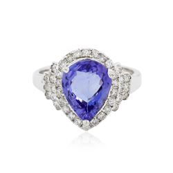14KT White Gold 2.90 ctw Tanzanite and Diamond Ring