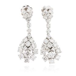 14KT White Gold 2.87 ctw Diamond Earrings