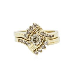 14KT Yellow Gold 0.70 ctw Diamond Wedding Ring Set