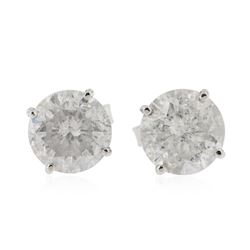 14KT White Gold 3.09 ctw Diamond Stud Earrings