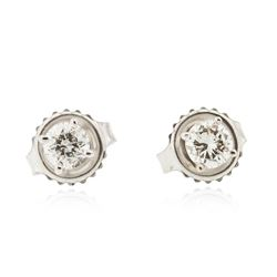 14KT White Gold 0.50 ctw Diamond Stud Earrings