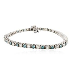 14KT White Gold 4.78 ctw Diamond Tennis Bracelet