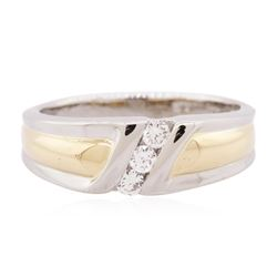 18KT Two-Tone Gold 0.30 ctw Diamond Ring