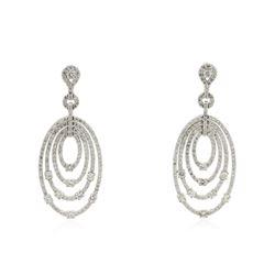 14KT White Gold 2.98 ctw Diamond Earrings