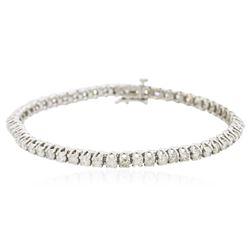 14KT White Gold 4.81 ctw Diamond Bracelet