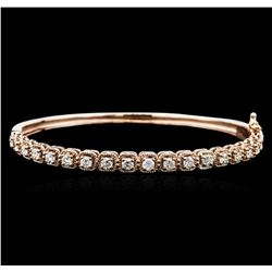 14KT Rose Gold 1.70 ctw Diamond Bangle Bracelet
