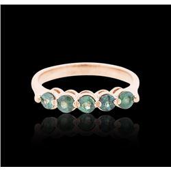 14KT Rose Gold 0.75 ctw Chrysoberyl Ring