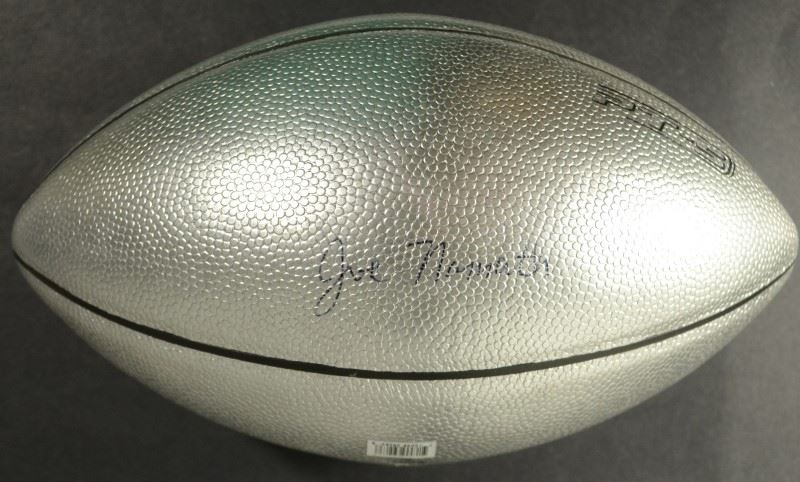 best loved cc486 51cb6 JOE NAMATH AUTOGRAPHED FOOTBALL ( SILVER RAWLINGS )