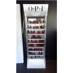 APPROX 157 BOTTLES OF MISC NAIL POLISH INCLUDES STAND