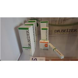 7 BOXES DR BELTER PRODUCTS, 4 LINIE A LOTION, 1 LINIE A CREAME, 1 LINIE A PACKING MASK. 1 LINIE A CL