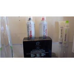 1 BOX OF KERATRIPLEX TREATMENT, 4 CANS HAIR SPRAY