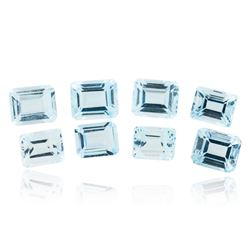 39.22 ctw. Emerald Cut Blue Topaz Parcel