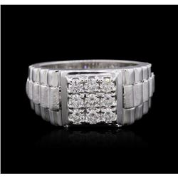 14KT White Gold 0.51 ctw Diamond Ring