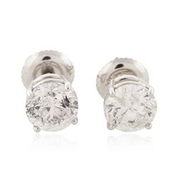 14KT White Gold 1.82 ctw Diamond Earrings