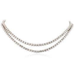 10KT White Gold 16.59 ctw Diamond Necklace