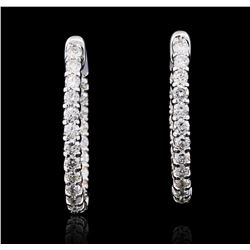 14KT White Gold 2.51 ctw Diamond Earrings