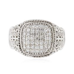 14KT White Gold 0.33 ctw Diamond Ring