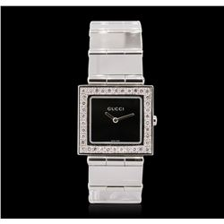Unisex Stainless Steel Diamond Gucci Wristwatch
