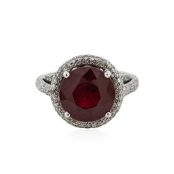 18KT White Gold 6.45 ctw Ruby and Diamond Ring