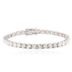 18KT White Gold 15.45 ctw Diamond Tennis Bracelet