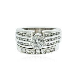 14KT White Gold 2.79 ctw Brilliant Cut Diamond Wedding Set
