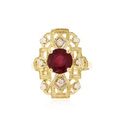 14KT Yellow Gold 2.43 ctw Ruby and Diamond Ring