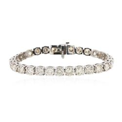 14KT White Gold 13.77 ctw Diamond Bracelet