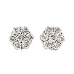 14KT White Gold 1.57 ctw Diamond Earrings