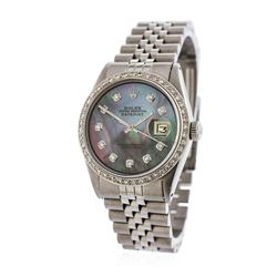 Gents Rolex Stainless Steel Diamond DateJust Wristwatch
