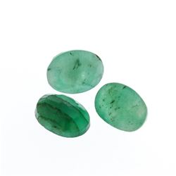 4.23 cts. Oval Cut Natural Emerald Parcel