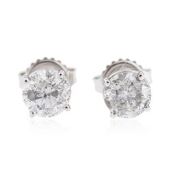 14KT White Gold 1.53 ctw Diamond Stud Earrings