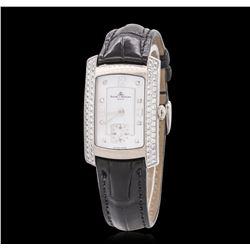 Ladies 18KT White Gold 1.00 ctw Diamond Baume & Mercier Wristwatch