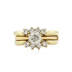 14KT Yellow Gold 1.65 ctw Diamond Ring and Guard