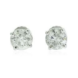 14KT White Gold 1.46 ctw Diamond Solitaire Earrings