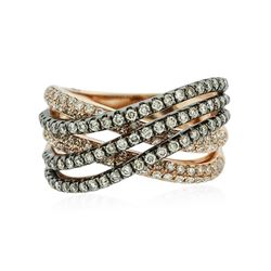 14KT Two-Tone Gold 0.84cw Diamond Ring