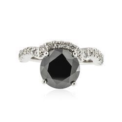 14KT White Gold 3.67 ctw Black Diamond Ring