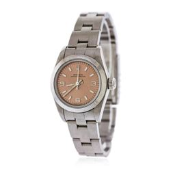 Ladies Rolex Stainless Steel Oyster Perpetual Wristwatch
