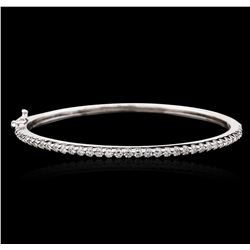 14KT White Gold 1.60 ctw Diamond Bangle  Bracelet