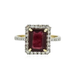 14KT Yellow Gold 3.34 ctw Ruby and Diamond Ring