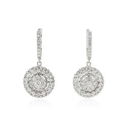 14KT White Gold 2.48 ctw Diamond Earrings