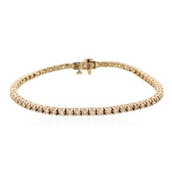 14KT Rose Gold 2.72 ctw Diamond Bracelet