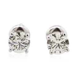 14KT White Gold 1.31 ctw Diamond Solitaire Earrings