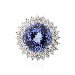 14KT White Gold 14.41 ctw Tanzanite and Diamond Ring
