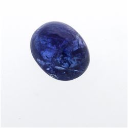 20.55 ctw. One Oval Cabochon Cut Tanzanite