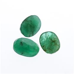 3.60 cts. Oval Cut Natural Emerald Parcel